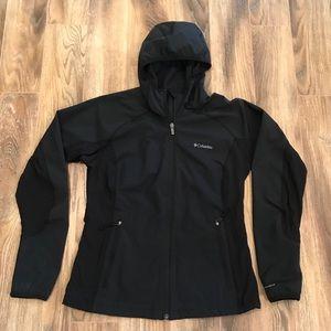 Columbia Black Hooded Jacket M